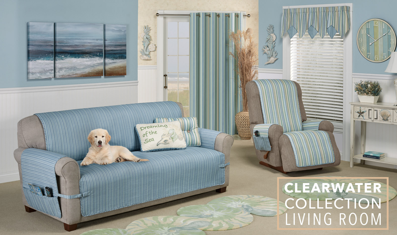 Get The Look - Clearwater Coastal Living Room - Furniture Covers