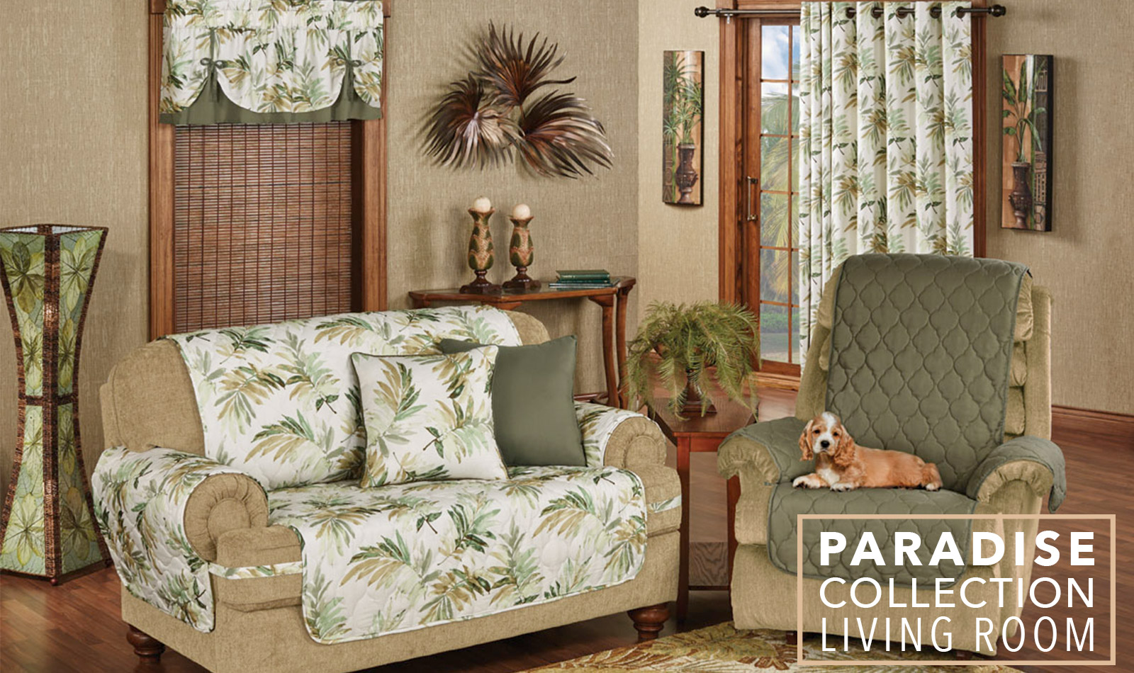 Get The Look - Paradise Tropical Living Room - Furniture Covers