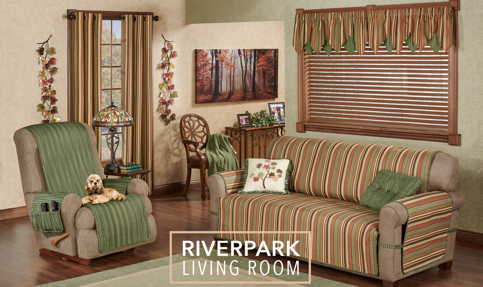 Get The Look - Riverpark Stripe Living Room - Furniture Covers