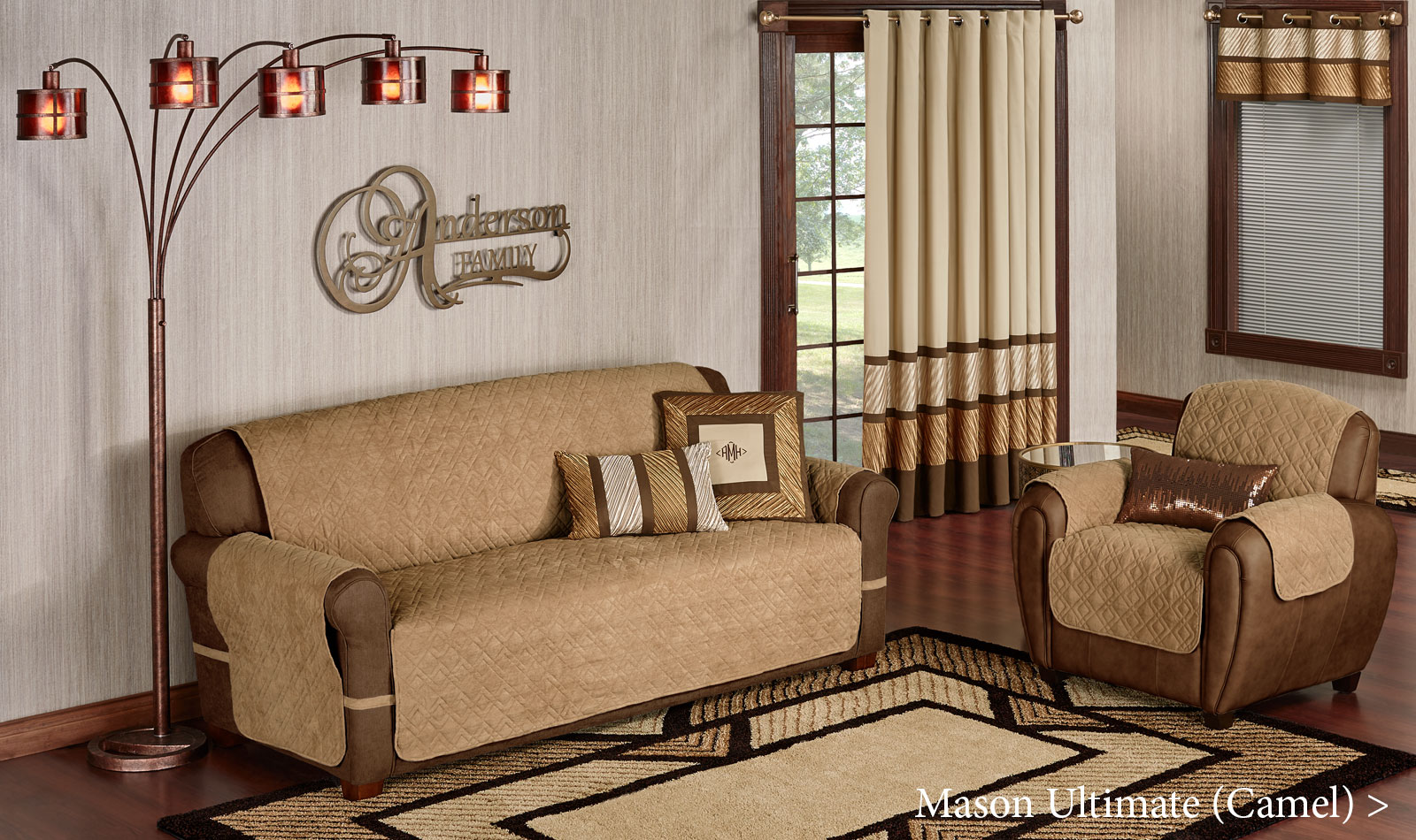 Mason Ultimate Furniture Cover Collection in Camel