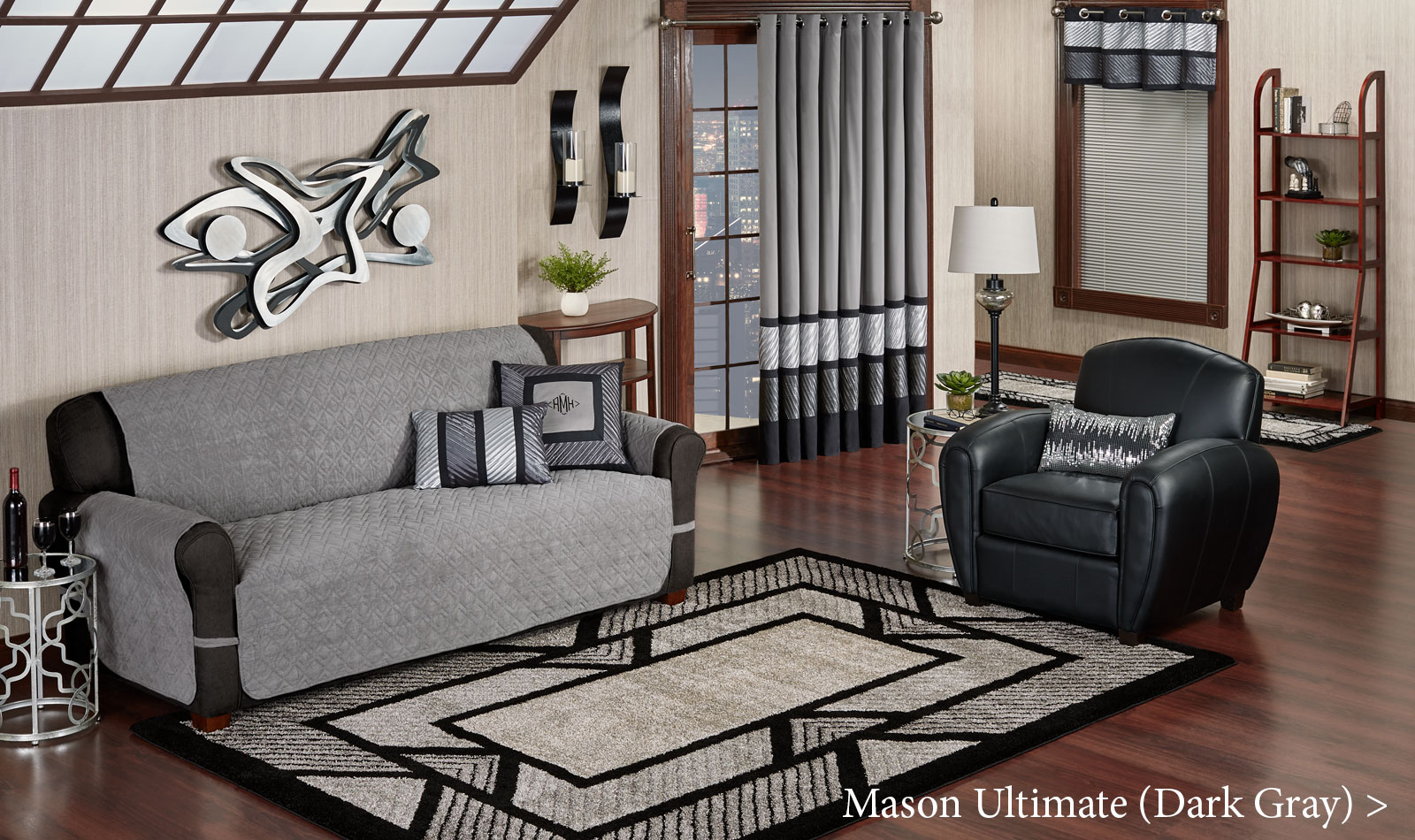 Get The Look - Living Room - Mason Ultimate Furniture Covers Dark Gray