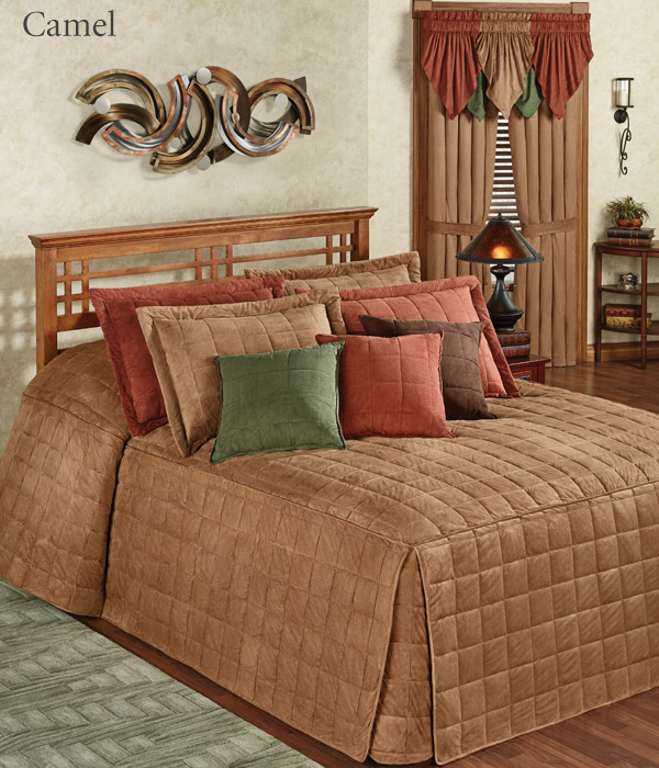Get The Look - Camden Camel Brown Grande Bedspread