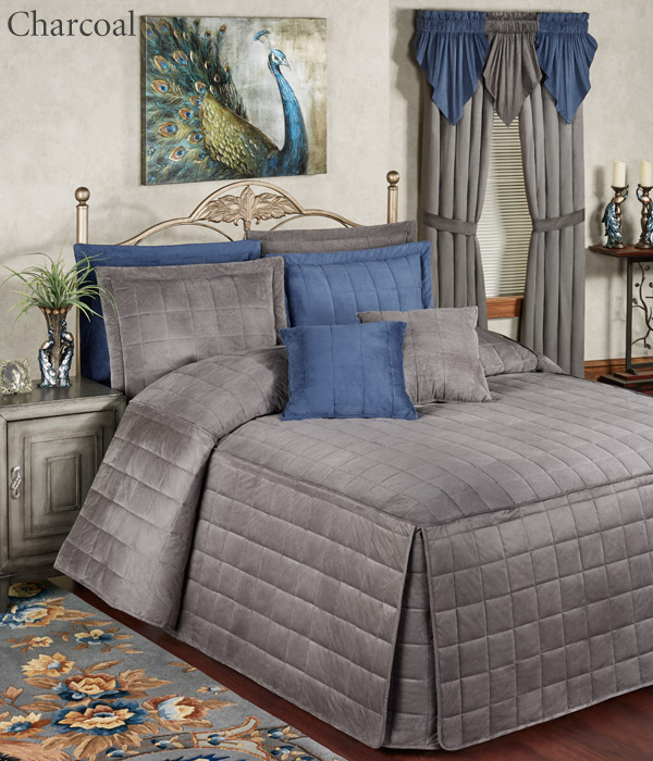 Get The Look - Camden Charcoal Gray Grande Bedspread