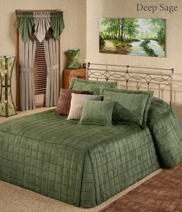 Get The Look - Camden Deep Sage Green Grande Bedspread