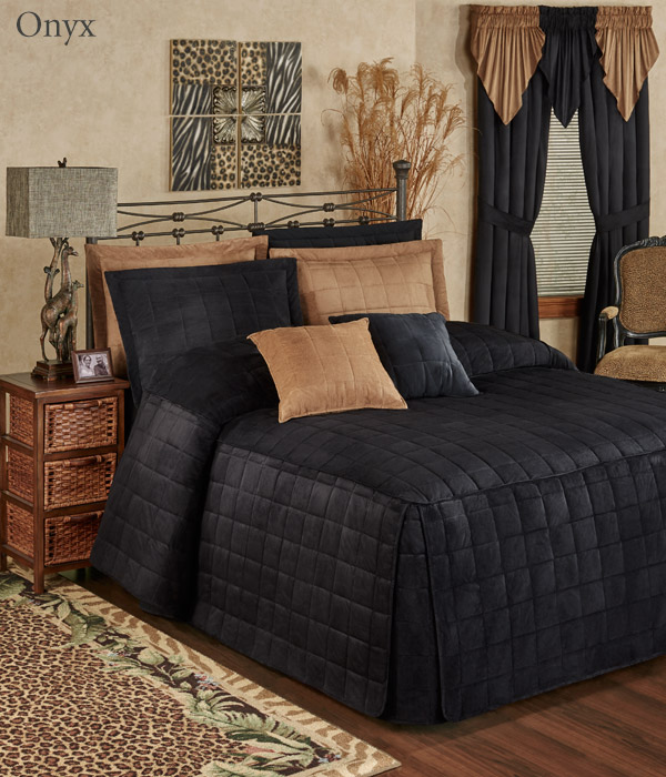 Get The Look - Camden Onyx Black Grande Bedspread