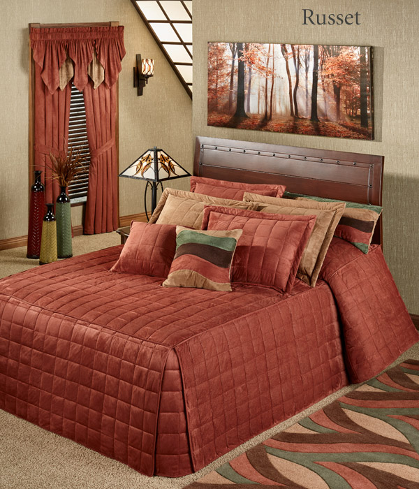Get The Look - Camden Russet Orange Grande Bedspread