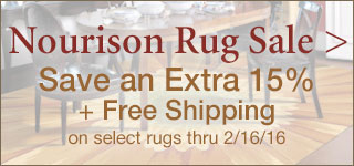 Save 15% + Free Shipping on select Nourison Rugs thru 2/16/16!