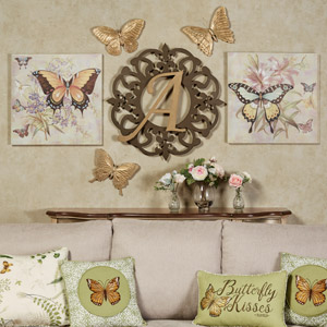Heritage Butterfly Wall Collage
