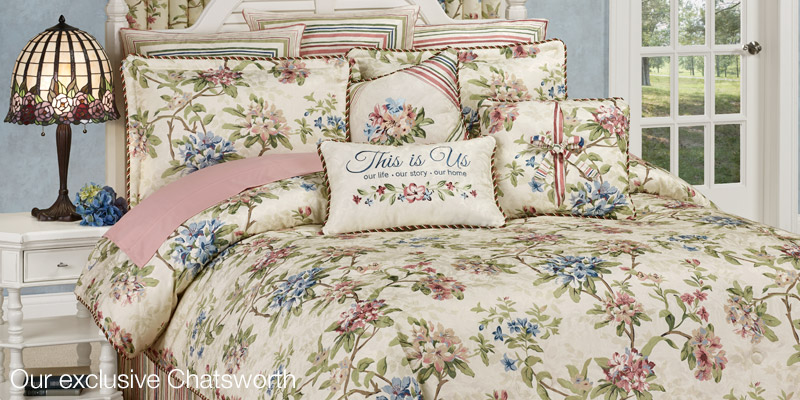 Chatsworth Bedding with Pillows by Touch of Class
