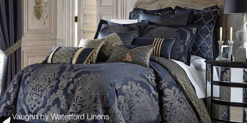 Vaughn Bedding with Pillows by Waterford Linens