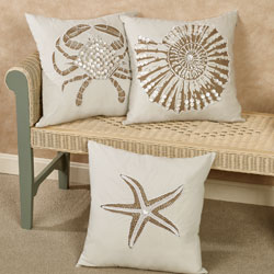 Jewels of the Sea Embellished Pillows