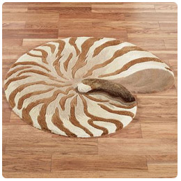 Chambered Nautilus Shell Shaped Rug