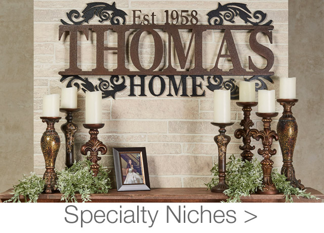 Get The Look - Specialty Niches - Fireplace Mantels