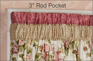 3 Inch Rod Pocket Curtain Panel