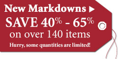 Save 40%-65% on New Markdowns!