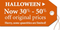 Save 30%-50% on all Halloween decor!