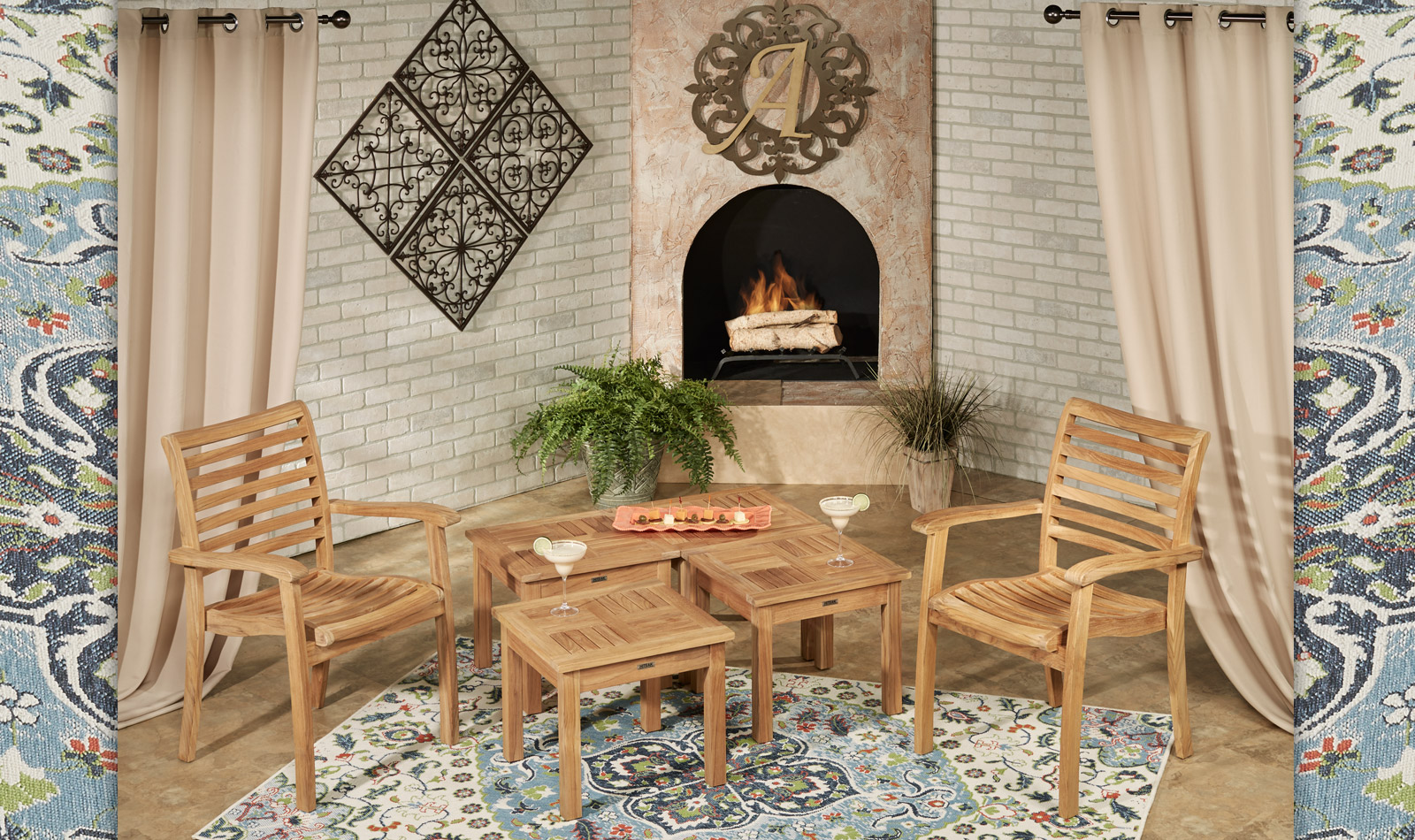 Get the Look - Oceana Teak Backyard Patio 2