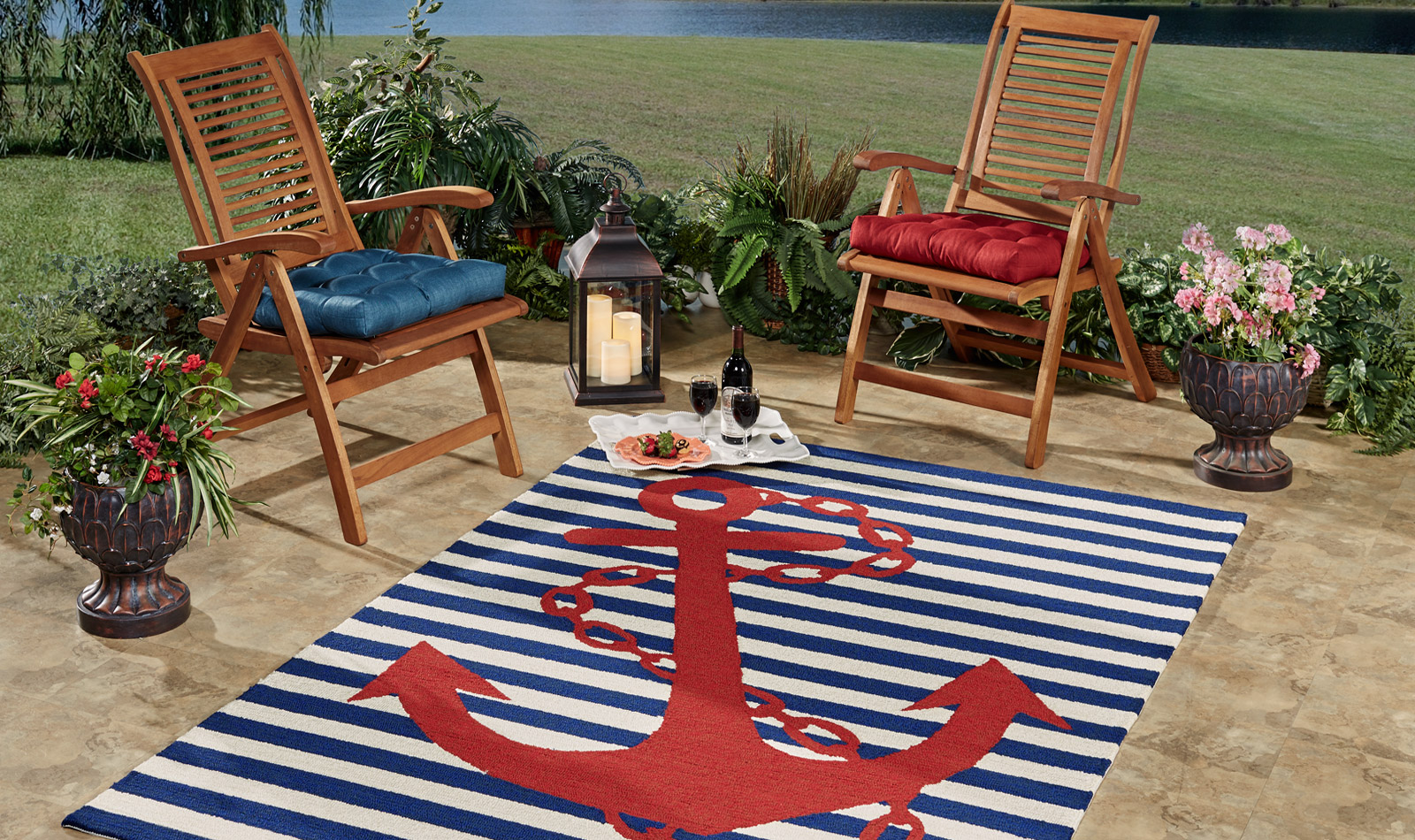 Get the Look - Nautical Backyard Patio - Red