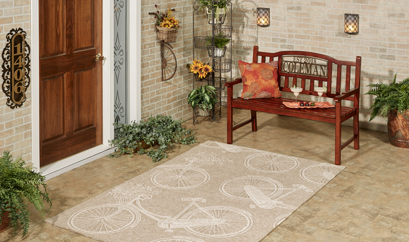 Get the Look - Vintage Bicycle Almond Patio Entry