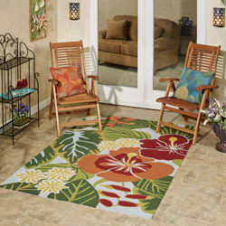 Get the Look - Tropical Flowers Backyard Patio