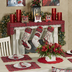 Get The Look - Plaid Tidings Holiday Dining Room