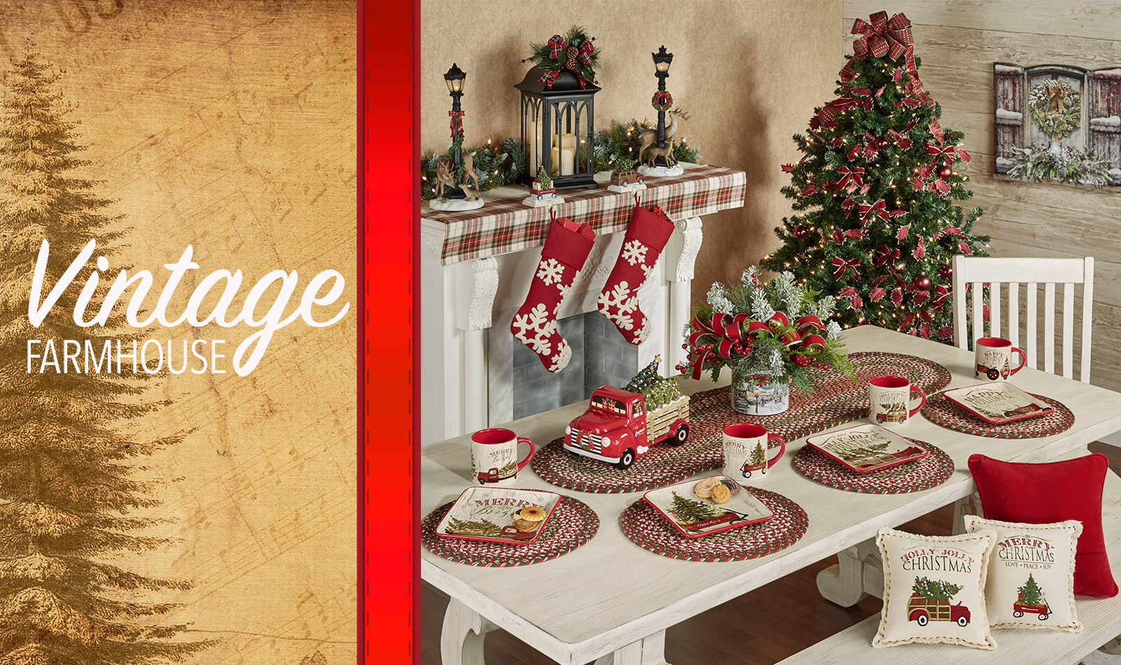 Get The Look - Vintage Farmhouse Holiday Dining Room