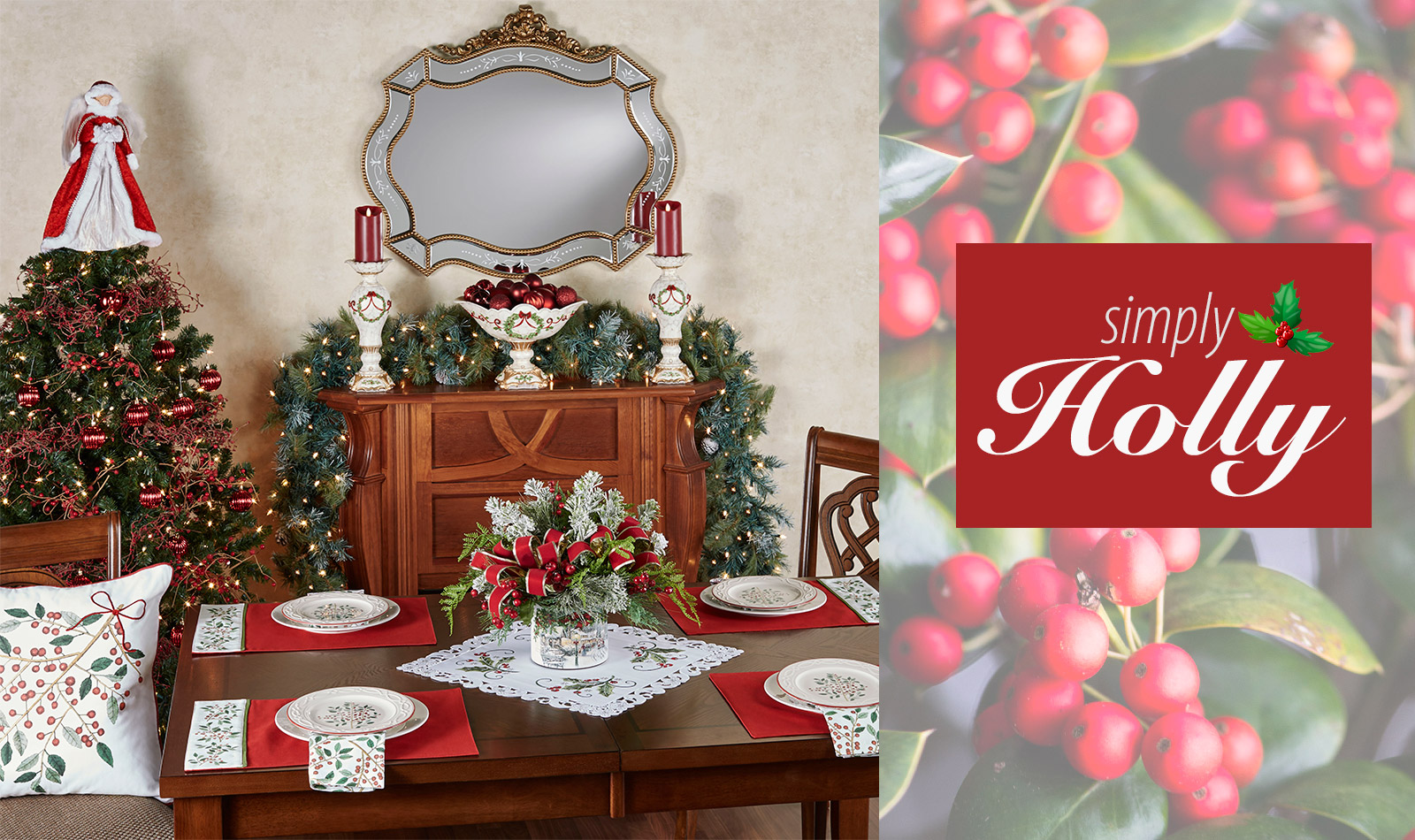 Get The Look - Simply Holly Christmas Dining Room