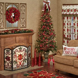 Get The Look - Holiday Traditions Poinsettia Living Room