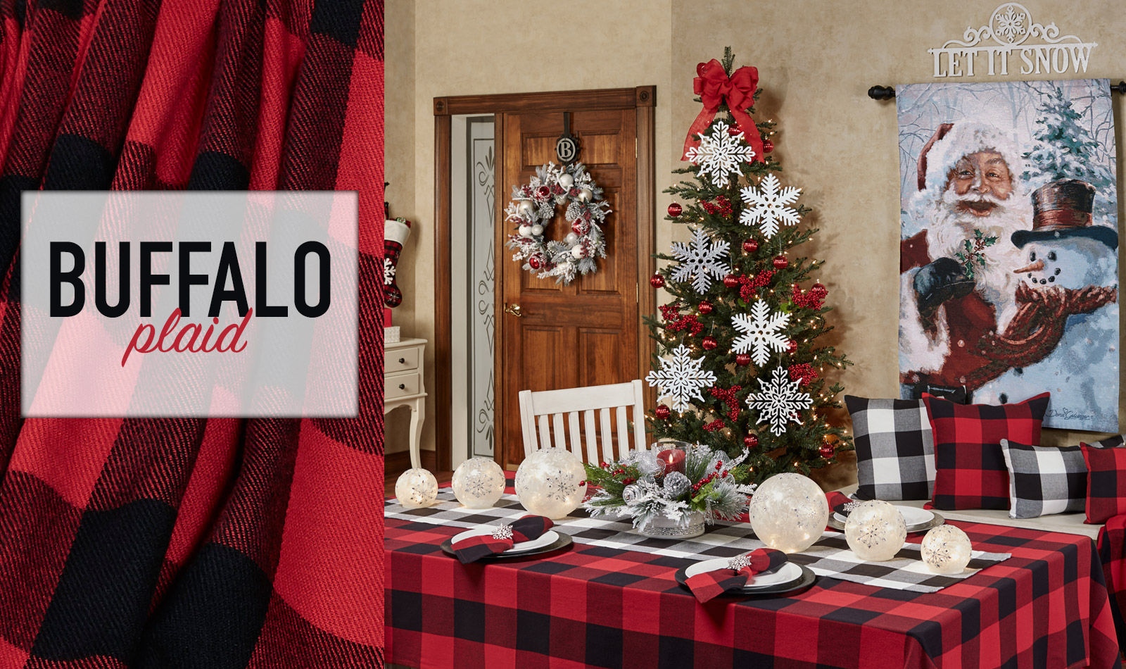 Get The Look - Buffalo Plaid Holiday Dining Room