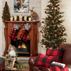 Get The Look - Rustic Buffalo Plaid Living Room