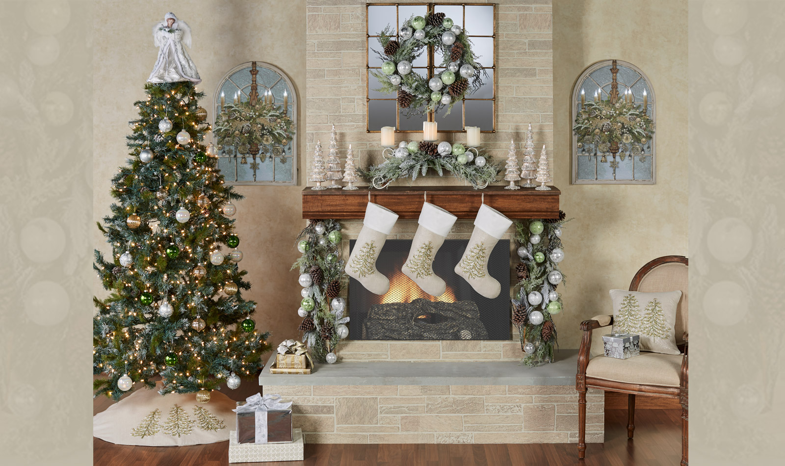 Get The Look - Winter Botanicals Fireplace