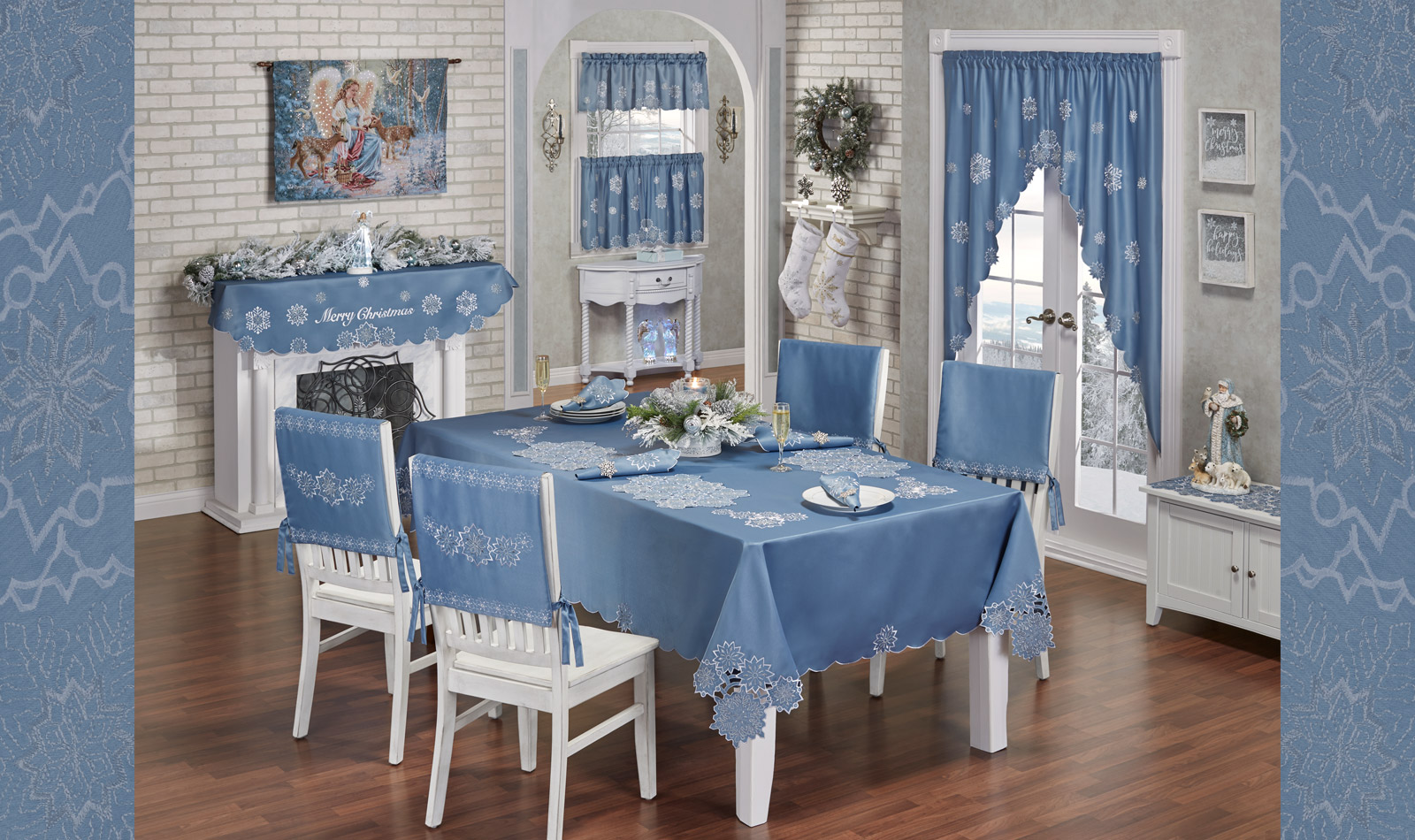 Get The Look - Celestial Blue Snowfall Dining Room