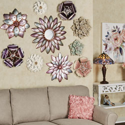 Pastel Arris Floral Wall Art Collage