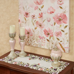 Pink Pansy Console Table Entry
