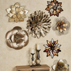 Metallic Arris Floral Wall Art Collage