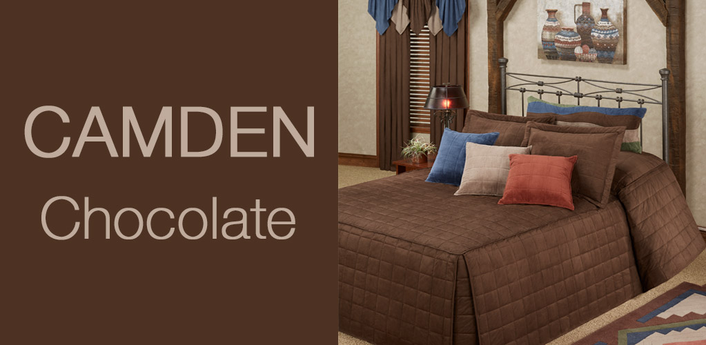 Camden Chocolate Brown Grande Bedspread