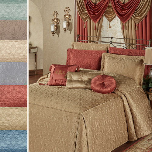 Cambridge Classics Fitted Bedspread in seven colors