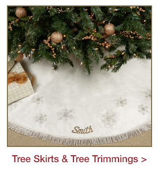 Holiday Tree Skirts and Tree Trimmings