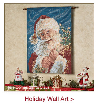 Holiday Wall Art and Wreaths
