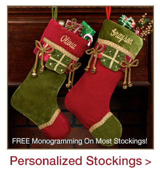 Free Personalization on most Christmas Stockings