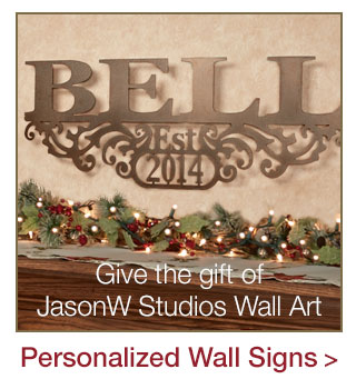 JasonW Studios Personalized Wall Art Signs