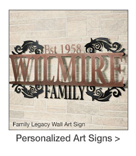 Outdoor Personalized Wall Art Signs