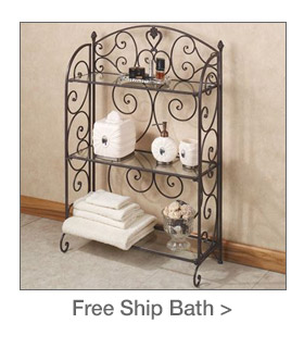 Free Shipping on select Bath Accents