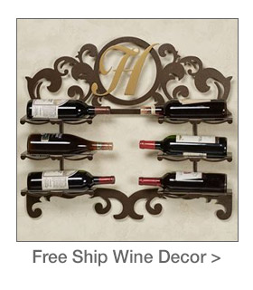Free Shipping on select Grapes and Wine-themed Accents