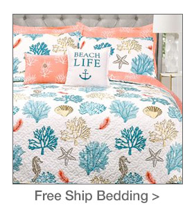 Free Shipping on select Bedding