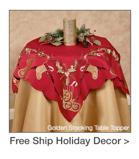 Free Shipping on select Christmas Holiday Accents