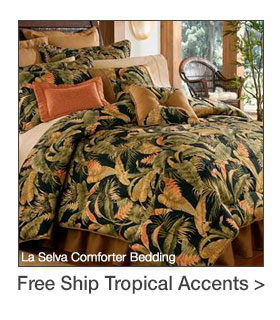 Free Shipping on select Tropical-themed Accents