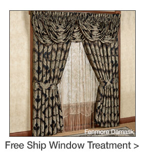 Free Shipping on select Window Treatments