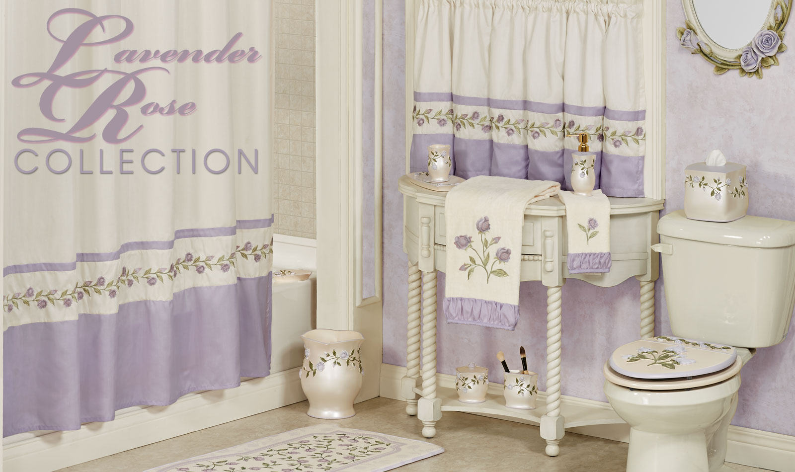 Lavender Rose Bath Collection