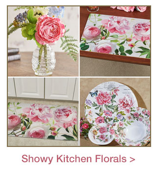 Showy Florals for a Spring Kitchen